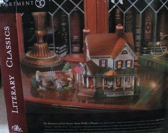 Dept.56 Literary Classics Aunt Polly's House and Tom Sawyer