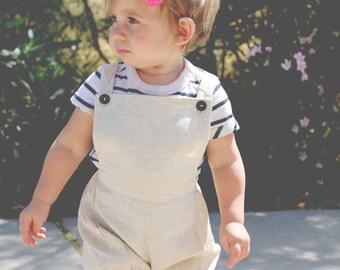 SALE summer Khaki Spring Linen Baby Infant Button bubble Sunsuit Romper