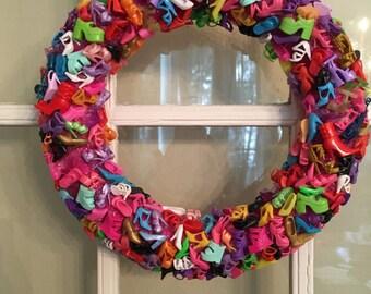 Shoe-Lovers Door Wreath