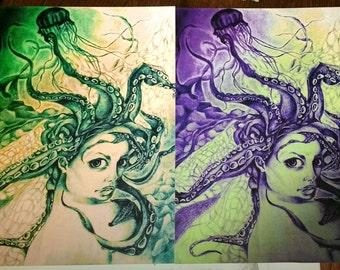 Octopus Princess Print