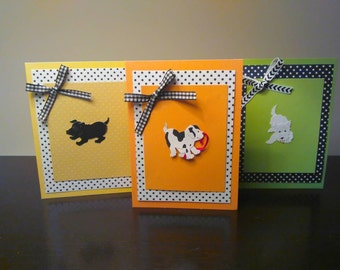 3 pack puppy greeting cards
