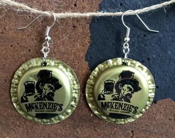 McKenzie's Hard Cider Bottle Cap Earring
