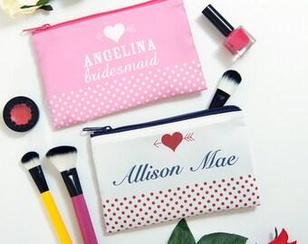bridesmaid bags, bridesmaid makeup bag, bridesmaid makeup bags, bridesmaid bag, personalized makeup bag