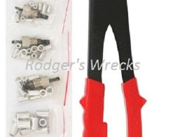 SAE Hand Rivet nut gun with 40 aluminum inserts 10 each of 4 sizes