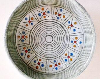 Mid Century ceramic Bowl / Centerpiece