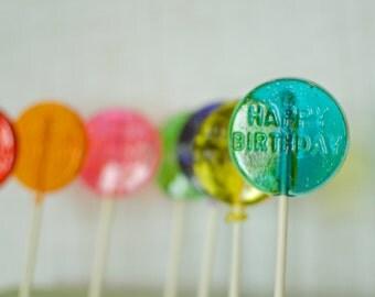 Happy Birthday lollipops, Birthday Lollipops, Lollipops, lollipop, birthday lollipop, Party Favors, Birthday-Set of Ten