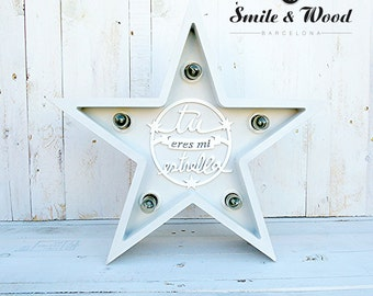 White Star with message