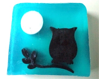 Lavender Soap - Handmade Natural Soap - Owl Soap Children Soap Calming Soap Antiseptic Soap