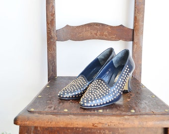 Vintage Pumps with studs from 80s
