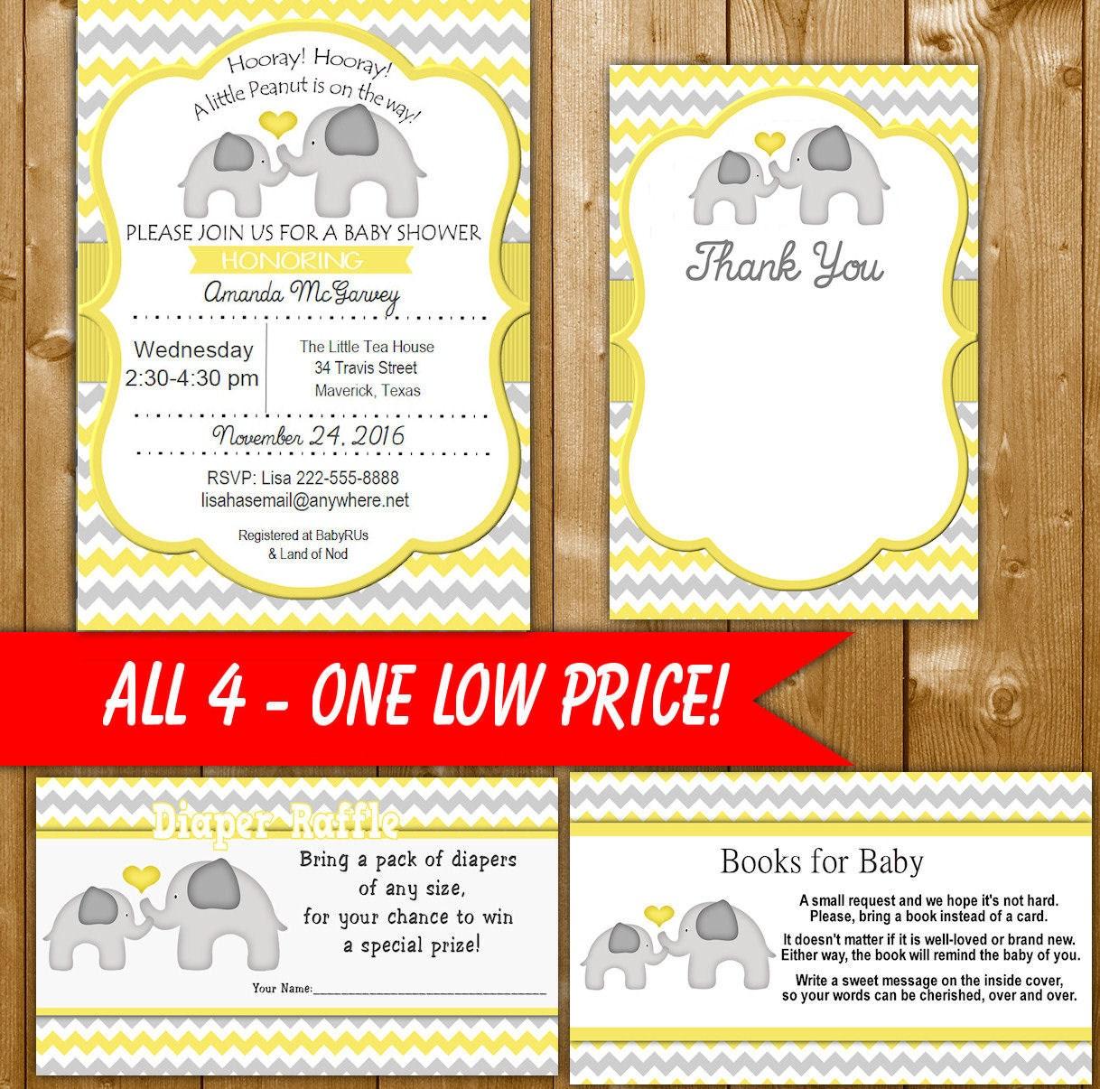 elephant baby shower invitation set - 28 images - sweet elephant ...