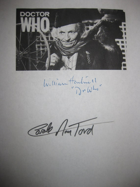 Doctor Who Signed TV Pilot Screenplay Script the Original 1963 Autograph Signature William Hartnell Carole Ann Ford