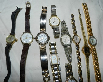 Watch Lot 50 Women's watches for Found / Assembled / Altered / Steampunk or Other Art - Destash - Parts + Supplies for Jewelry           6-7