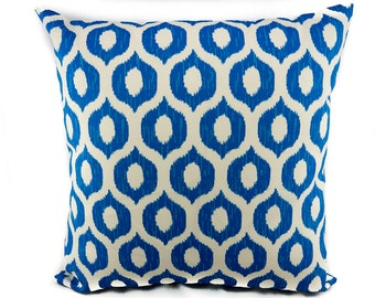 INDOOR/OUTDOOR Pillow, Sale | Blue Kist Pattern Pillow Cover. Swavelle Mill Creek Vroome/Fresco Bluebell.