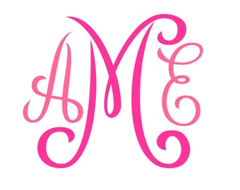 Monogram SVG  Font  No. 01