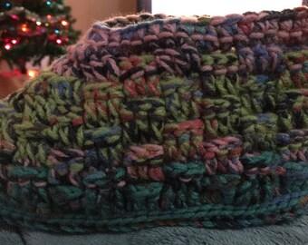 Basket weave slippers