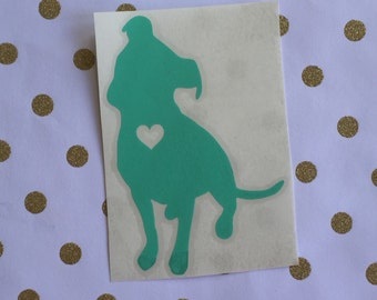 Pit Bull Heart Decal | Pit Bull Lover Decal | Dog Breed Decal | Dog Decal | Dog Lover | Pitbull | Car Window Decal | YETI Tumbler