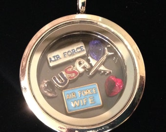 Air Force Wife Floating Locket
