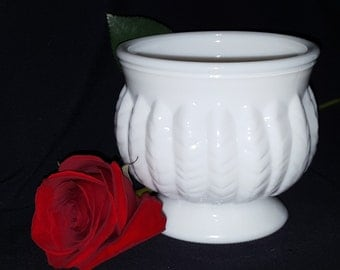 Milk Glass Footed Planter