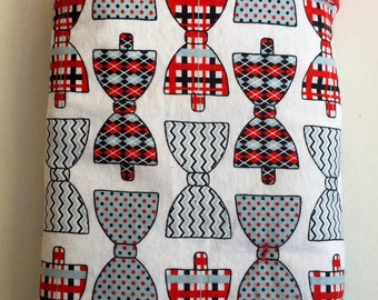 Baby Boy ~ Flannel ~ Bow Tie ~ Baby Blanket ~ Red~ Blanket For Your Baby Boy
