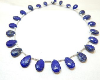 100% Natural Gemstone Lapis lazuli Faceted Beads Pear Shape 6x8 To 9x14 mm Approx Good Quality