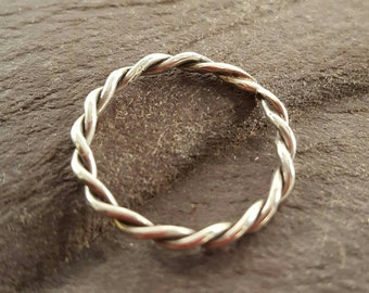 Dainty 2mm Sterling Silver Stacking Rings.
