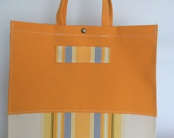 Bag Orange made with awning canvas