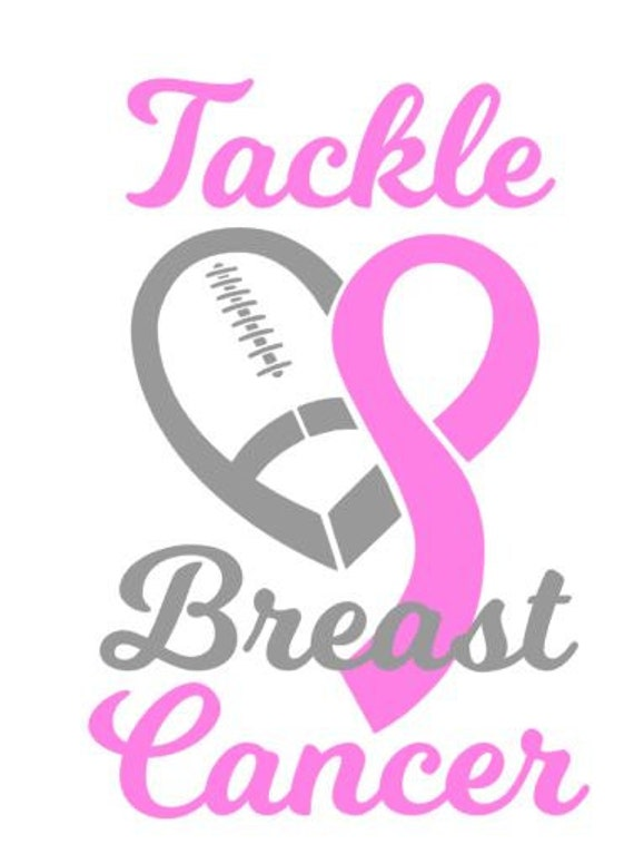 Tackle Breast Caner Svg Football Caner Fight Cancer Decal
