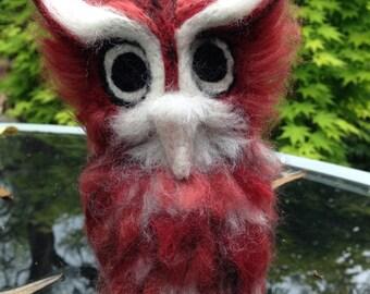 Screech Owl Needle Felt - Made to Order