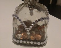 Princess Bejeweled Patron Bottle for Change, or Decoration *Change NOT included*