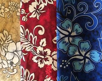 lot of 3 pieces Haiwaiian print fabrics 12 yards total