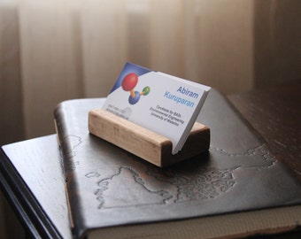 Hand crafted Wood Business Card Holder