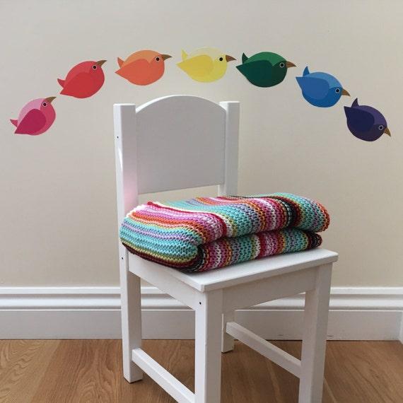 rainbow birds wall sticker set rainbow nursery decoration rainbow wall sticker ebay