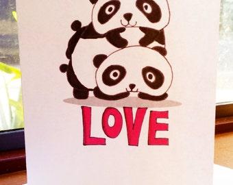 Cute Panda Valentine's Day Card