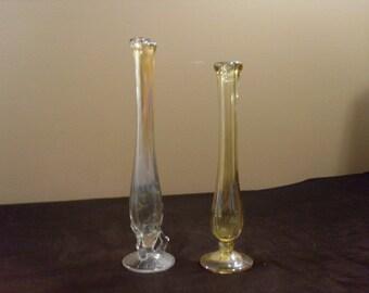 Vintage Fenton Glass Bud Vases