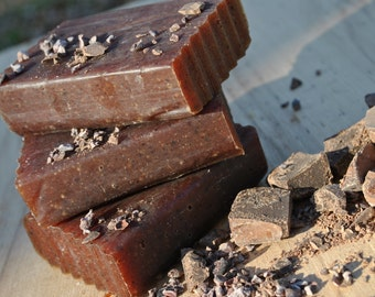 Natural Chocolate Soap, Exfoliating Soap, Handmade Just For You
