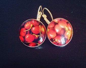 """""""cherry"""" earrings"""