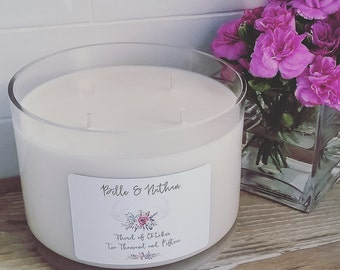 Personalised Wedding Candle - 'Eternal Love' Size