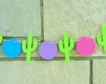 Fiesta cactus party decor, party banner