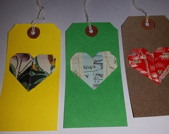 Heart Origami Gift Tags