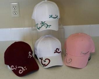 Really Cute Women's Rhinestone Hats.  Choose the color you like...