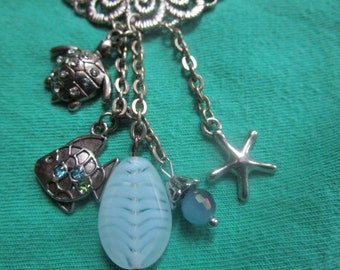 Sea Side Charm Necklace, has alot of Charm!