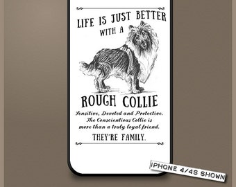 Rough Collie dog phone case cover iPhone Samsung ~ Can be Personalised