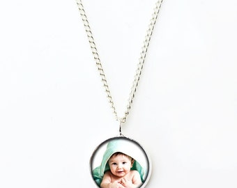 Custom Photo Pendant, Baby Photo Necklace, Portrait Necklace, Your Own Photo, Couple Pendant, Personalized Pendant, Photo Jewellery