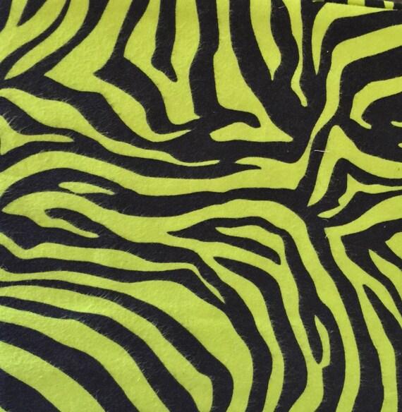 Green Zebra Print Green Zebra Flannel Fa...