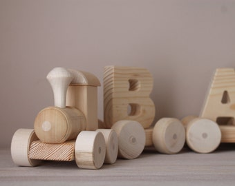 Name train/Wooden name train/Wooden train/Baby name