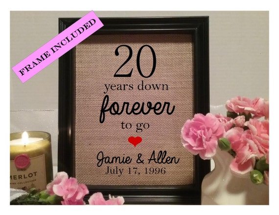 20 year wedding anniversary gift, 20th wedding anniversary, Wedding ...