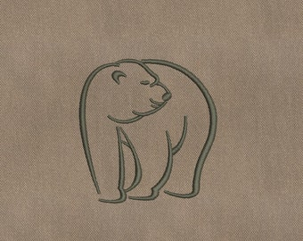 MACHINE EMBROIDERY DESIGN - Bear