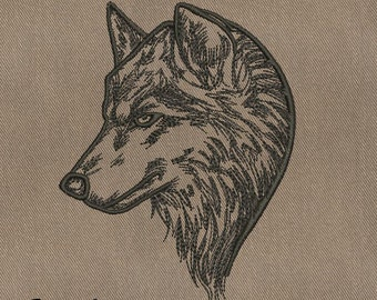 MACHINE EMBROIDERY DESIGN - Wolf