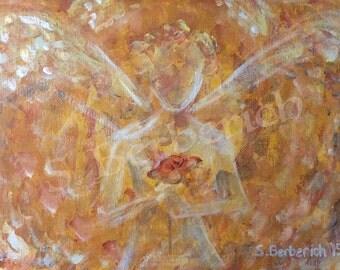 Archangel Jophiel, Angel of Beauty, Reiki Infused Yellow Giclee Print