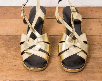 70's Gold Sandals